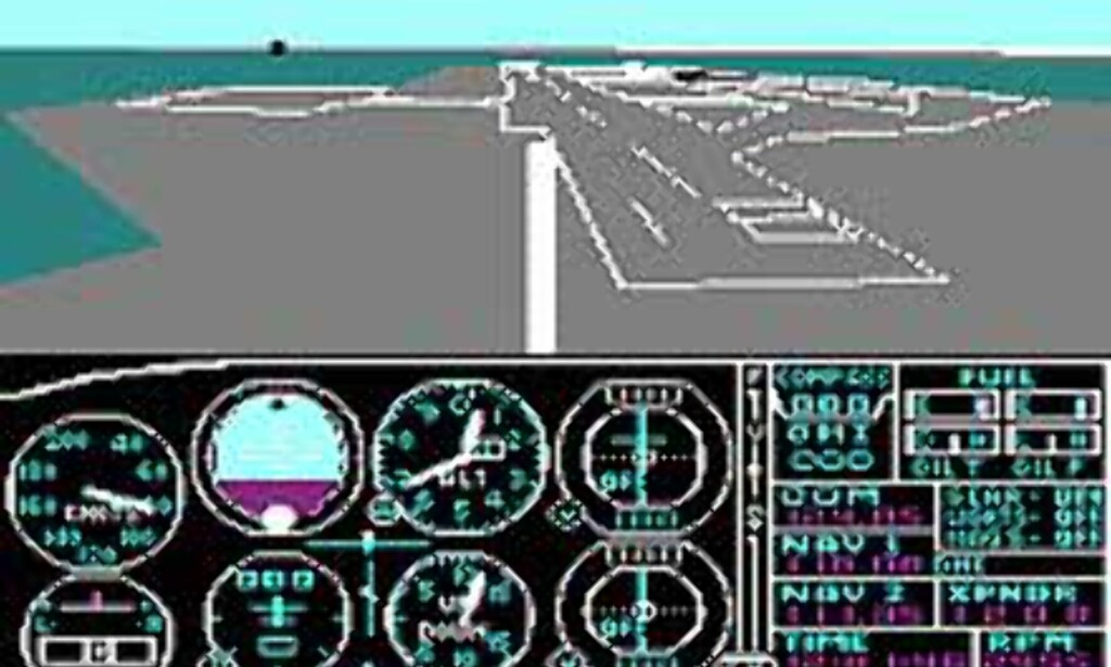 Flight Simulator for 20 år siden