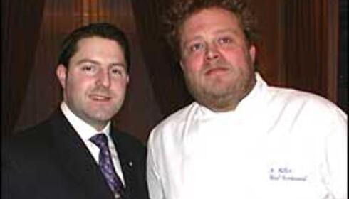 Restaurantsjef Nicolas Facchin-Blomgren (t.v.) og kjøkkensjef Morten Hallan (t.h.) Foto: Karoline