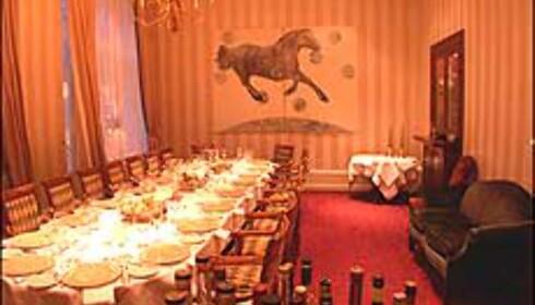 Det er plass til 20 personer i restaurantens Chambre Separee