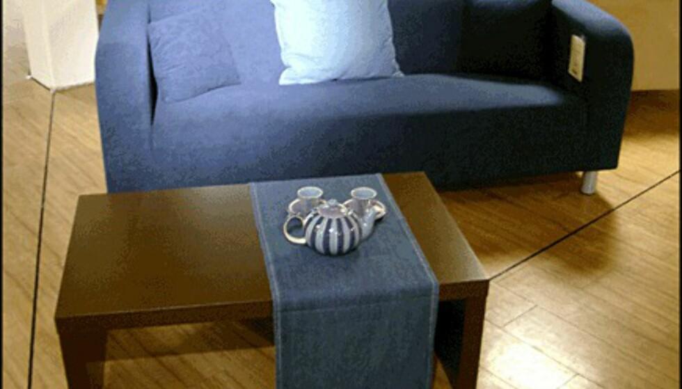 Stram og enkel er sofaen Louise. 3.595 kroner hos Skeidar.