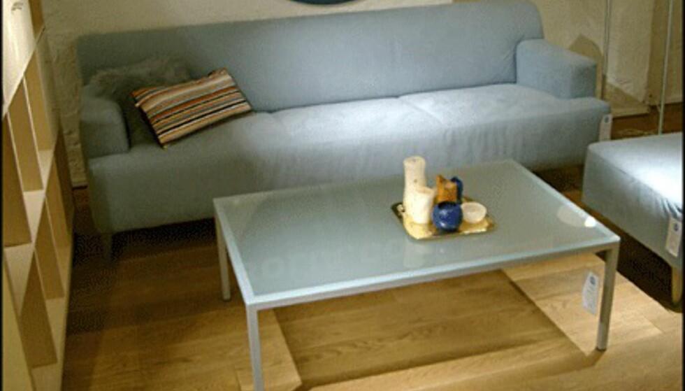 Sofaen Firenze koster 12.450 kroner, og er med det ikke av de aller billigste. Men den er tross alt av lær. (Bolia.com)