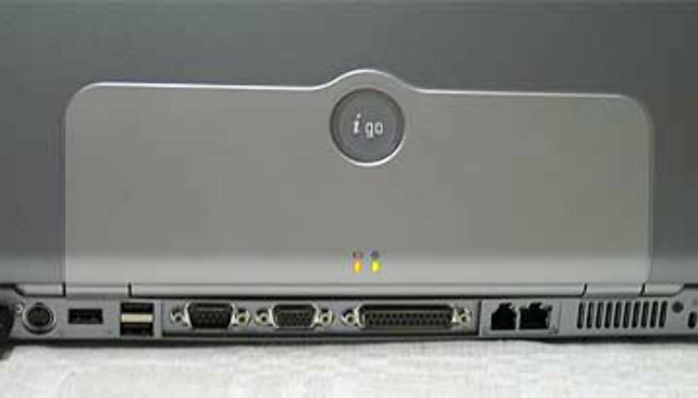 iGo 3481 har godt med tilkoblingsmuligheter.