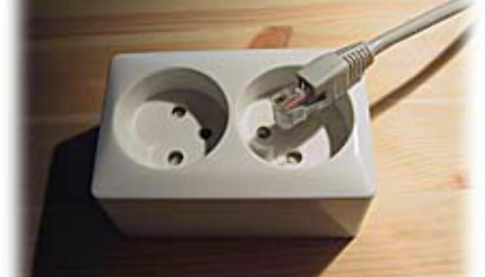 TEST: Nettverk gjennom strømkabelen?