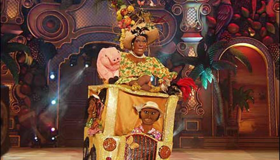 Spesiell figur fra et av showene. Foto: http://www.laspalmascarnaval.com/