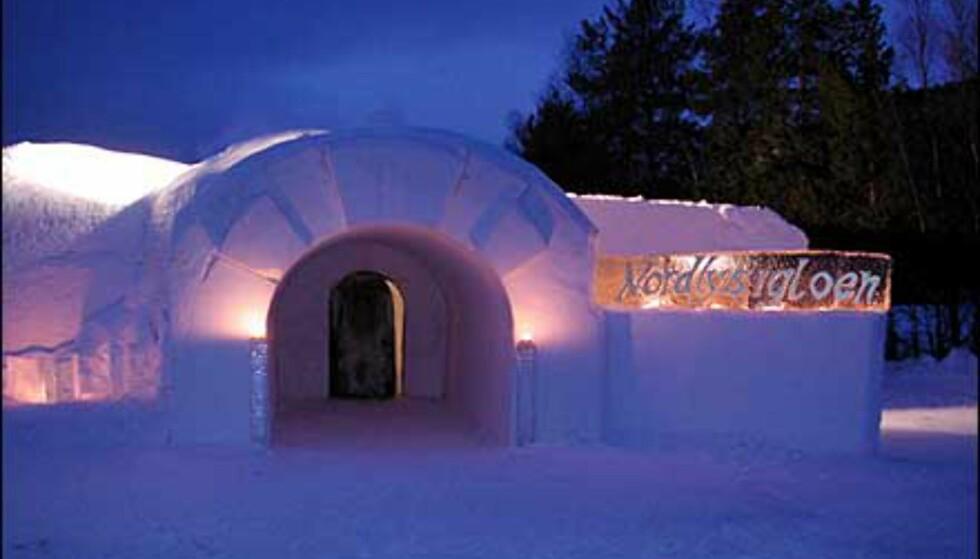 Inngangspartiet til ishotellet i nord. Foto: Alta Igloo Hotel Foto: Alta Igloo Hotel