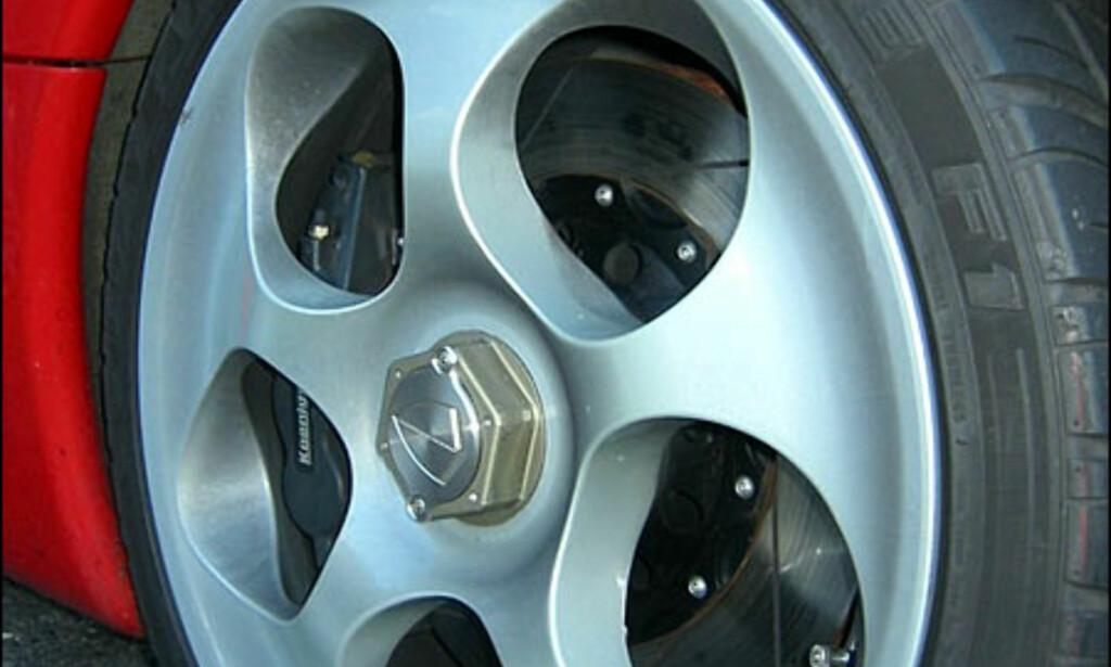 Hjul på Koenigsegg C8. (FOTO: Birger Heigre)