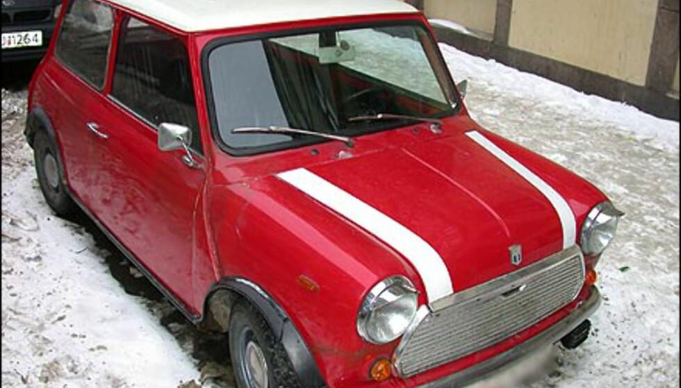 ORIGINALEN: Det ble altså solgt hele 221 Mini i fjor. I tillegg finnes det fortsatt noen igjen av originalen. Denne har til og med øyelokk og fin lakk.