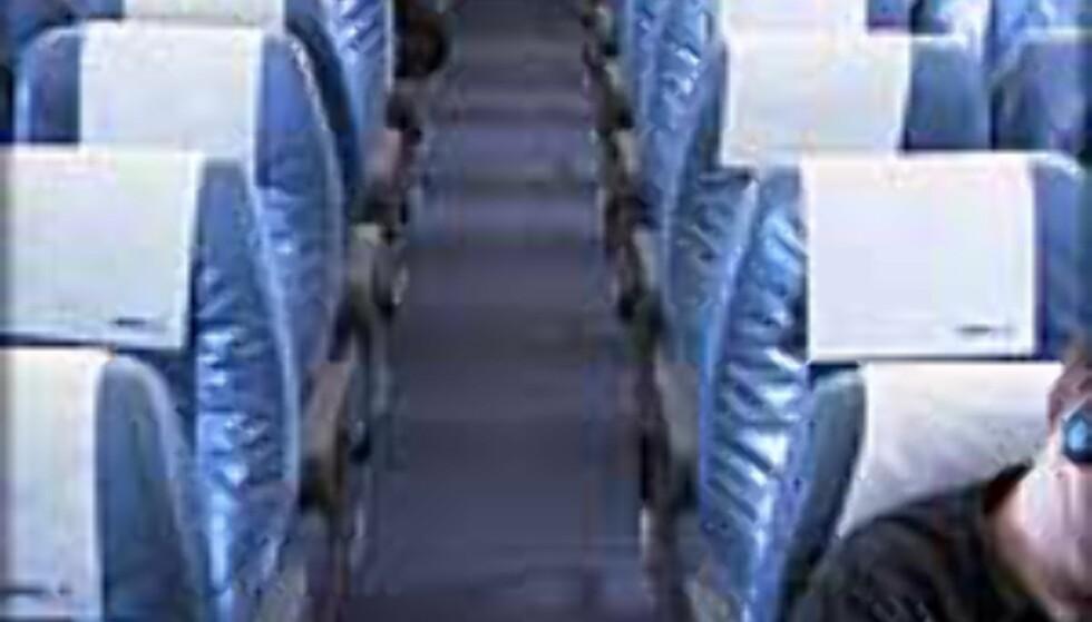 Det er ikke alltid så romslig som dette ombord, spesielt ikke på charterfly.