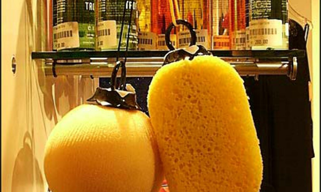 Vibrerende badesvamper får du hos Beate Uhse. Pris = 150 / 250 kroner. Den dyreste vibrerer best.