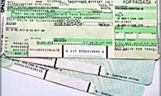 Verdiløse flybilletter?