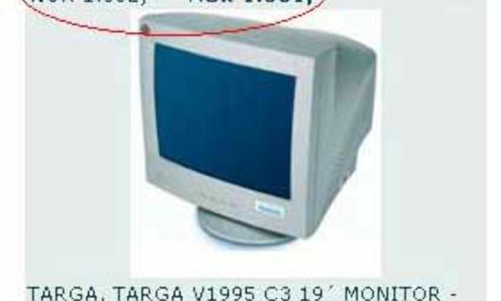 """image: Uslåelig tilbud på 19"""" skjerm"""