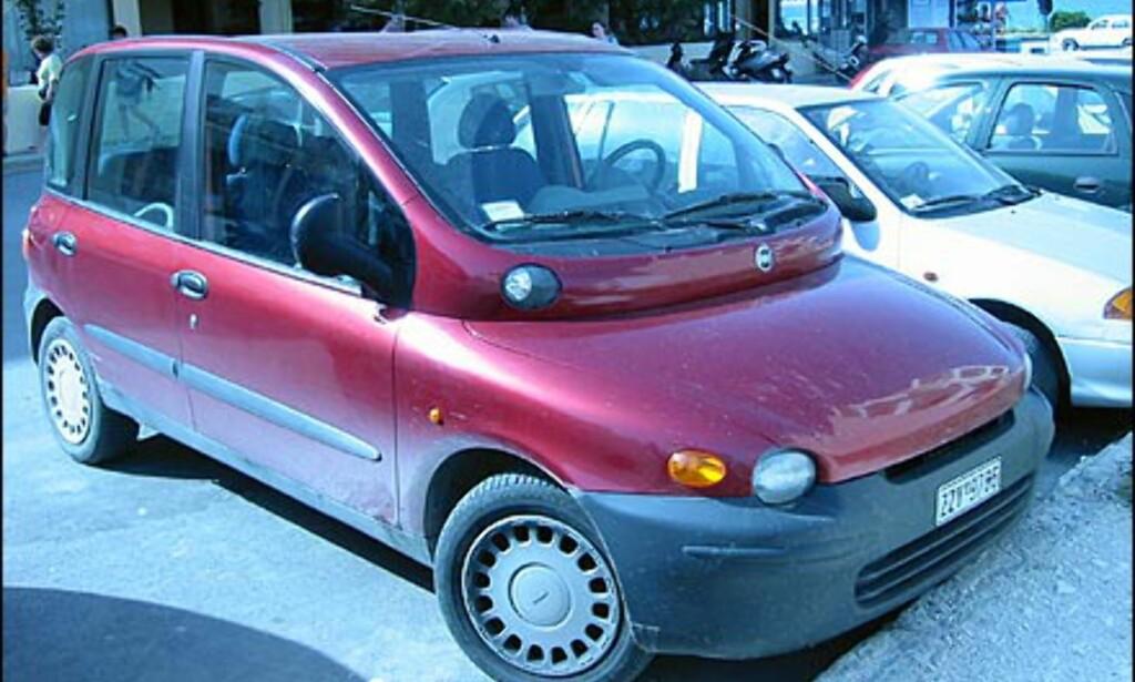 Fiat Multipla markedsføres dessverre ikke i Norge, men er et vanlig syn både i Sentral- og Sør-Europa.