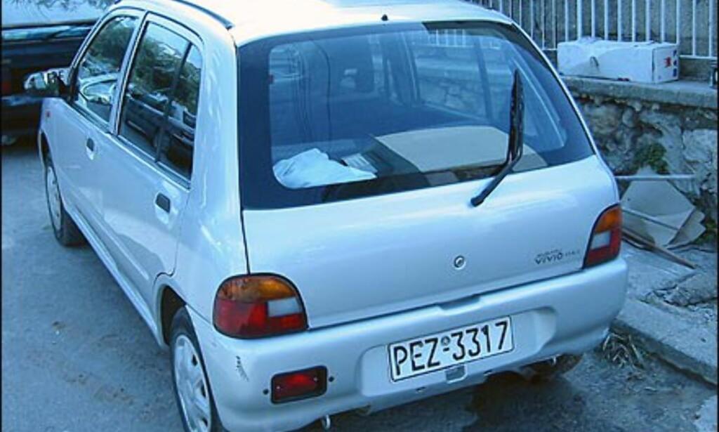 Subaru Vivio er også populær på Kreta.