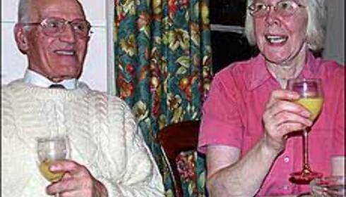 Joan og Kenneth Johnson er vårt vertskap på Delgatie.