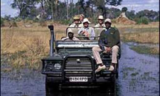 De fleste safariturister kjører bil eller minibuss. Du kan også dra på safari i båt, ballong eller til fots. Foto: Sigurd Safari Foto: Sigurd Safari