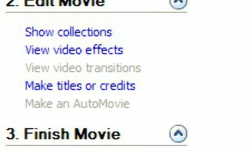 """""""Movie Tasks"""" ligger tilgjengelig i venstremargen hele tiden."""