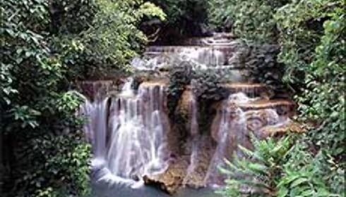 Thailand er mer enn strender. Inne i landet finner du tett jungel og mektige elver. Og som her - vakre fossefall. <I>Foto: Tourismthailand.org</I>