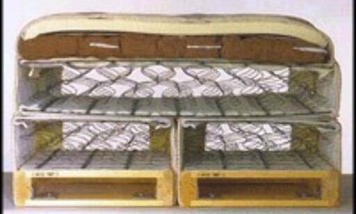 Rammemadrass med to lag springfjærer.