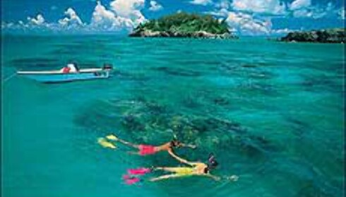 Klart vann, 27 grader, sol, salt og sand? Drit i høsten - dra til Karibia, selv om det ikke er like folketomt her som mange av bildene kan tyde på. <I>Foto: Bermudatourism.com</I>
