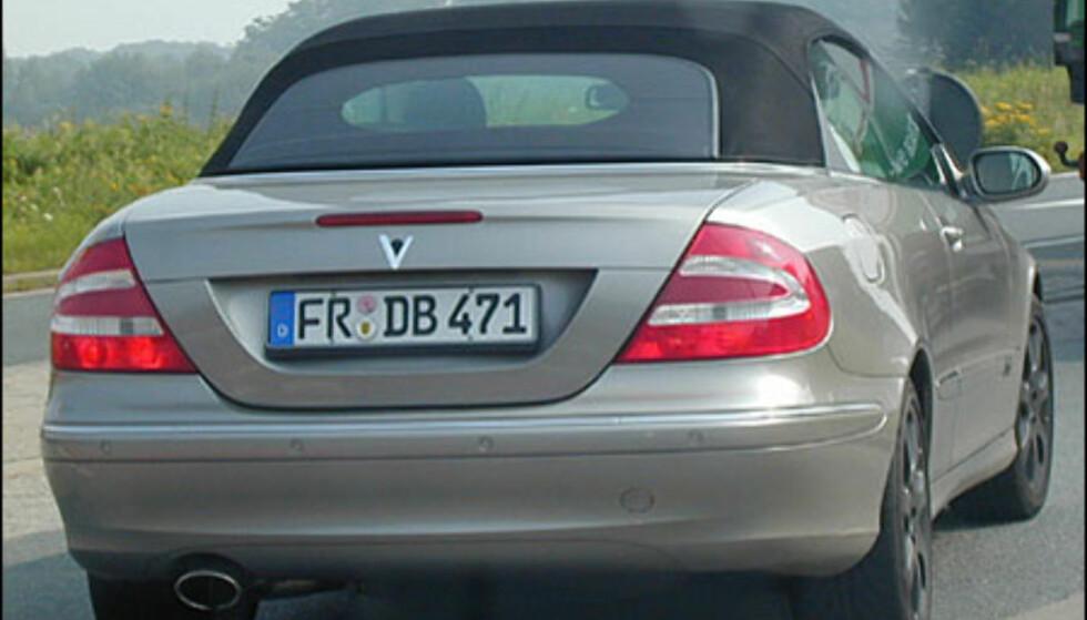 <strong>Mercedes-Benz CLK:</strong> Kabrioletutgaven klar til sommeren.