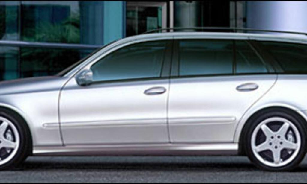 Mercedes-Benz E-klasse: klart for stasjonsvognutgaven.