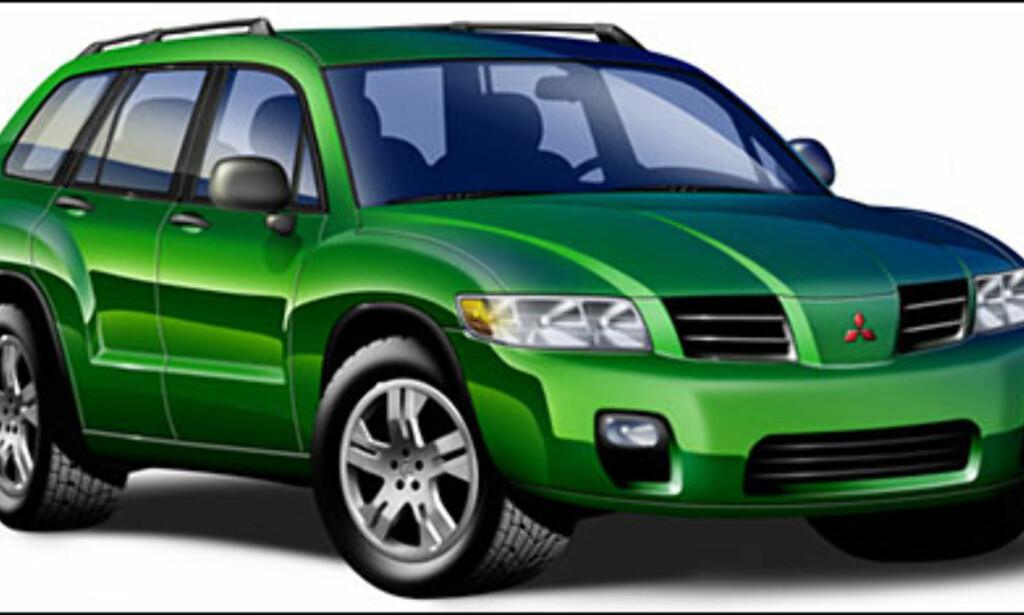 Mitsubishi Montero Sport: Skal bygges på Galant-plattform i USA. Kanskje til Europa.