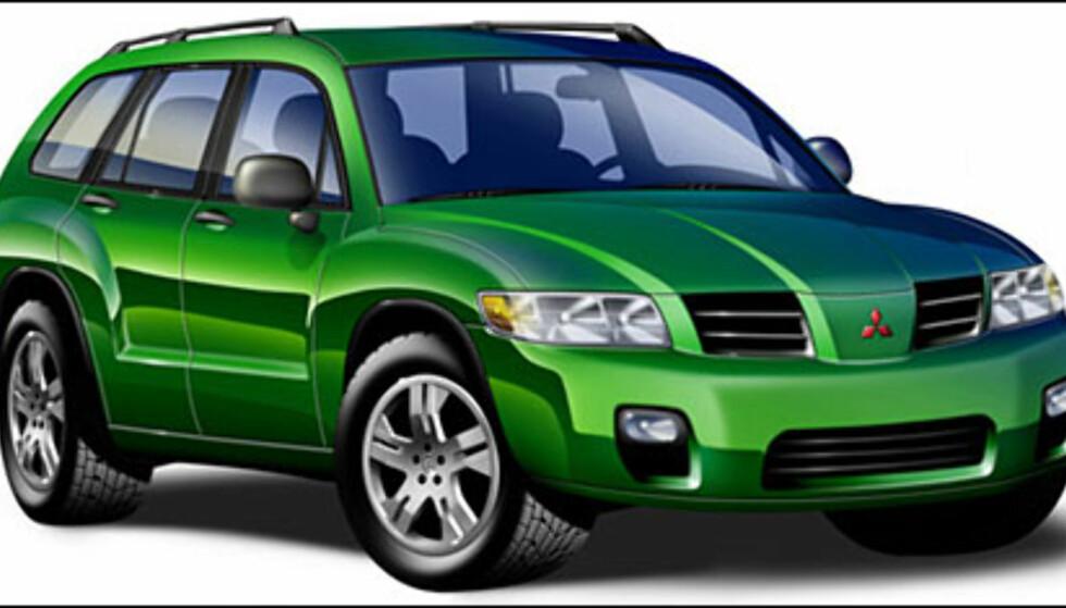 <strong>Mitsubishi Montero Sport:</strong> Skal bygges på Galant-plattform i USA. Kanskje til Europa.