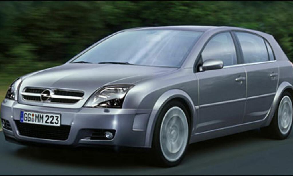 Opel Signum: Spesiell storbil basert på forlenget Vectra-plattform.