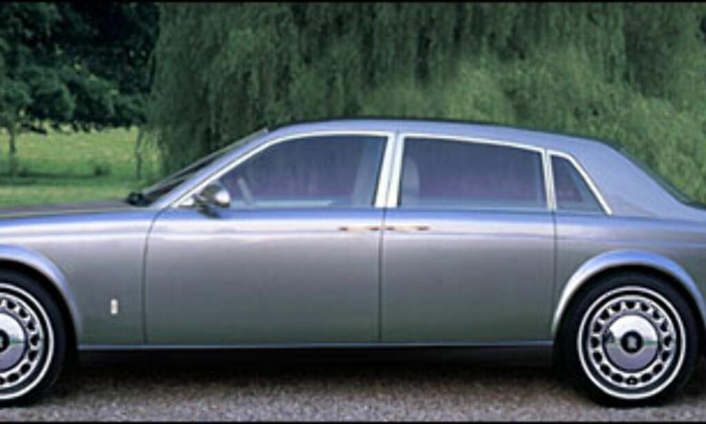 Rolls-Royce: BMW overtar Rolls-Royce navnet 1/1-2003. Dette er hvordan Automedia tror superluksusbilen vil se ut. Regn med V12 under panseret.
