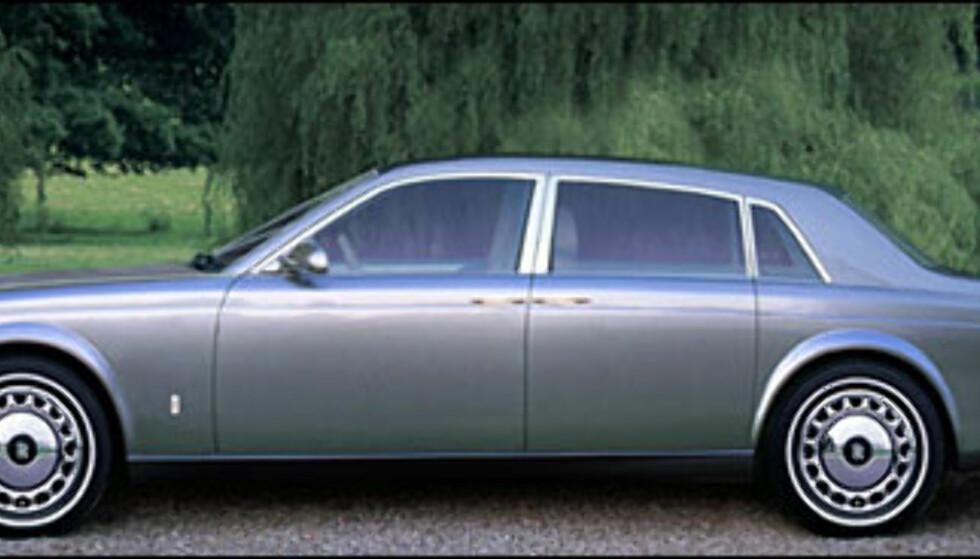 <strong>Rolls-Royce:</strong> BMW overtar Rolls-Royce navnet 1/1-2003. Dette er hvordan Automedia tror superluksusbilen vil se ut. Regn med V12 under panseret.