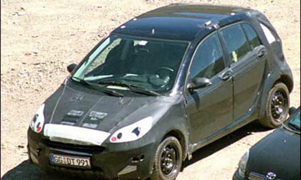 Smart: Femdørsutgave av den populære minibilen som ikke importeres til Norge.