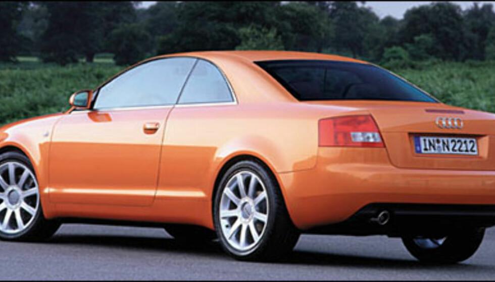 Audi A4 Coupè: kommer antakeglig sent i 2003.