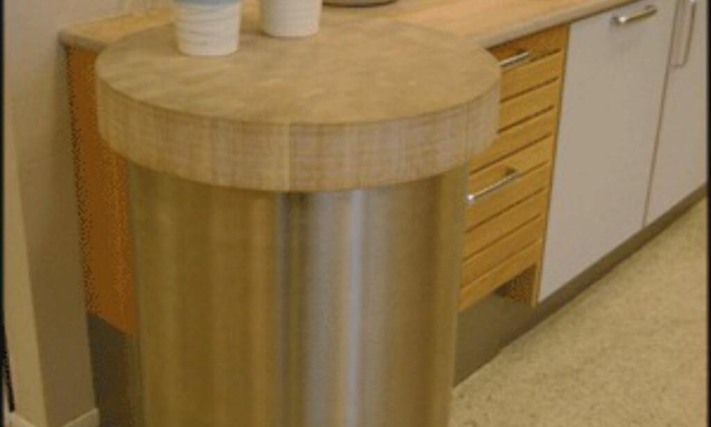"""Et alternativ til en kjøkkenøy er dette runde """"bordet"""" fra HTH. (Foto: Dag Yngve Dahle)"""