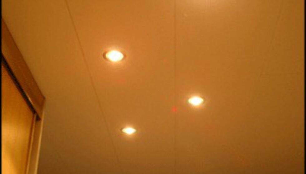 Downlights i taket er svært stemningsskapende. (Foto: Dag Yngve Dahle)