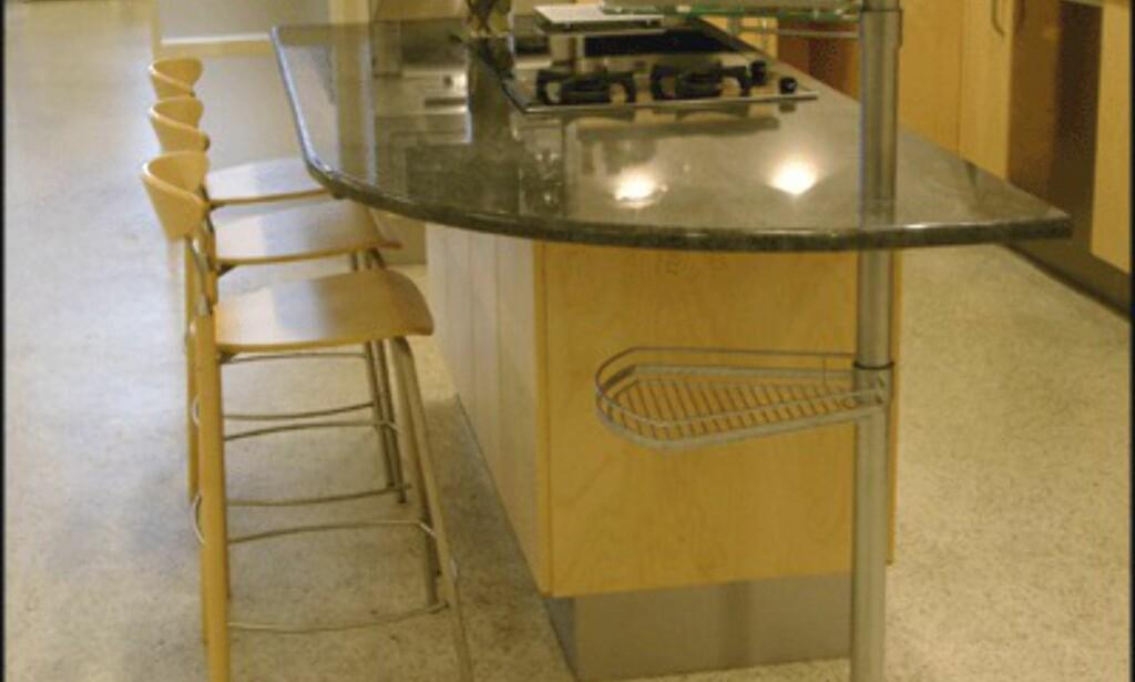 <center>Med en kjøkkenøy sparer du mye plass. (Foto: Dag Yngve Dahle)