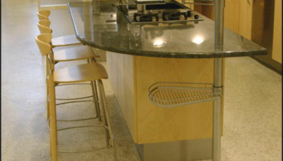 Med en kjøkkenøy sparer du mye plass. (Foto: Dag Yngve Dahle)