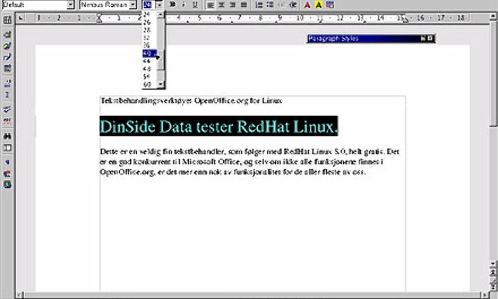 OpenOffice.org er en komplett pakke med kontorprogrammer. Her ser du tekstbehandleren Write.