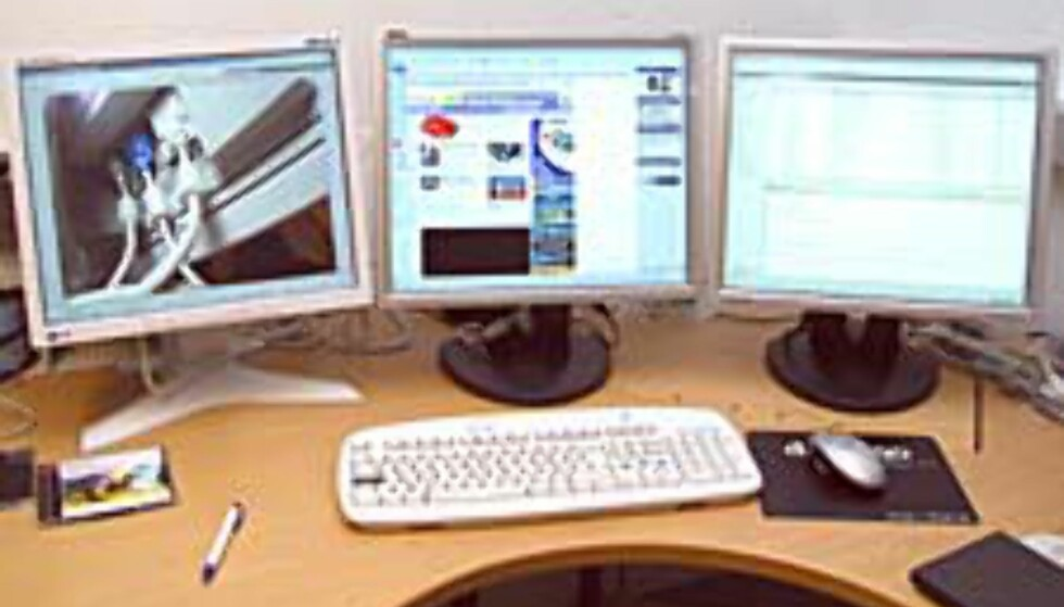Tre skjermer – den optimale arbeidsplass?
