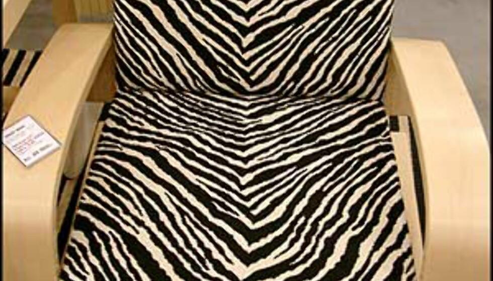 Oppsiktsvekkende stol fra Marimekko. (Foto: Dag Yngve Dahle)