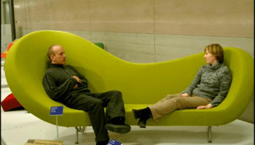 En sofa du ikke kan overse. Fra Compasso d'Oro-utstillingen. (Foto: Dag Yngve Dahle)