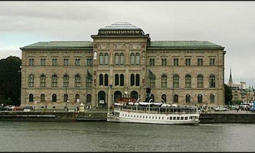 Nationalmuseet sett fra bydelen Gamla Stan.
