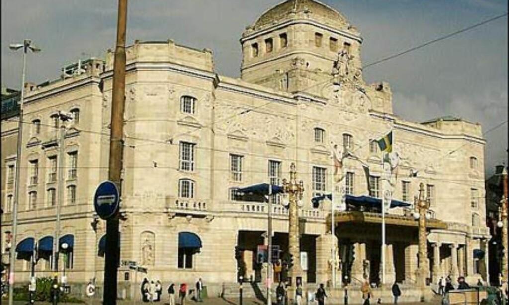 Det Kungliga Dramatiska teater i det eksklusive strøket på Östermalm.