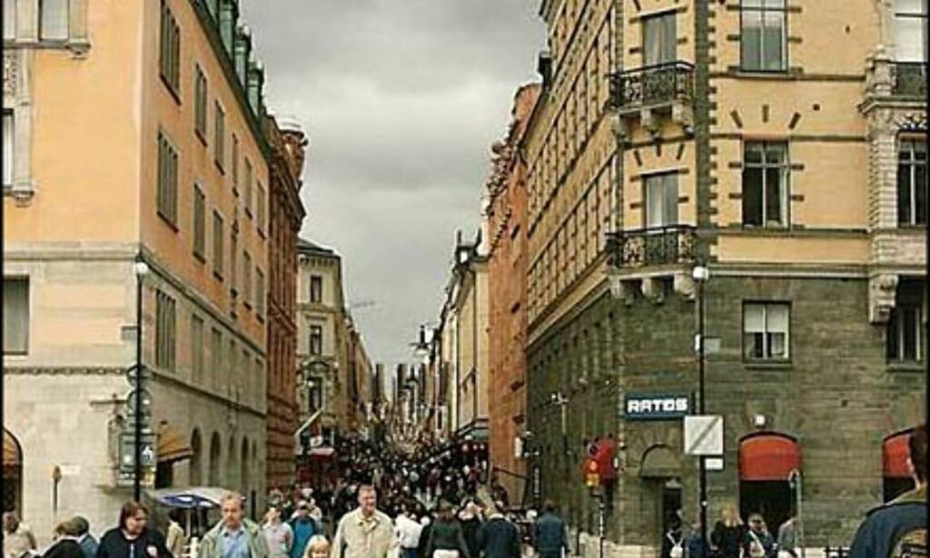 Gågaten i Drottninggatan er nærmere to kilometer lang.