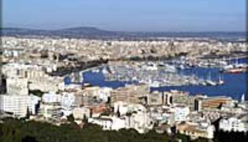 Utsikt over Palma på Mallorca.