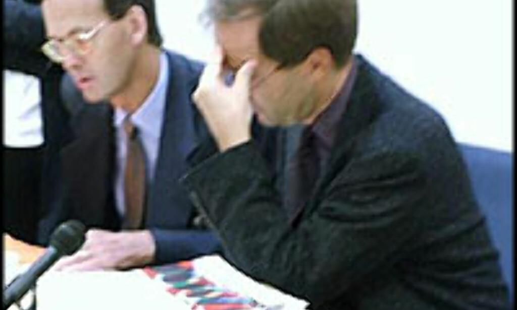 """OECD-menn med """"hodepine"""" over norsk økonomi: Andrew Dean og Wim Suyker."""