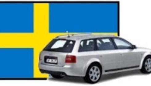 Audi A6 1.9 TDI Avant<br /> Pris i Norge: 423.400<br /> Pris i Sverige: 350.722<br /> Differanse: 72.678