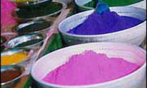 HOLI: Gulul er hovedingrediensen når våren feires i det nordlige India.
