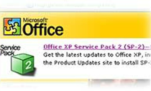 image: Office XP Service Pack 2 er klar