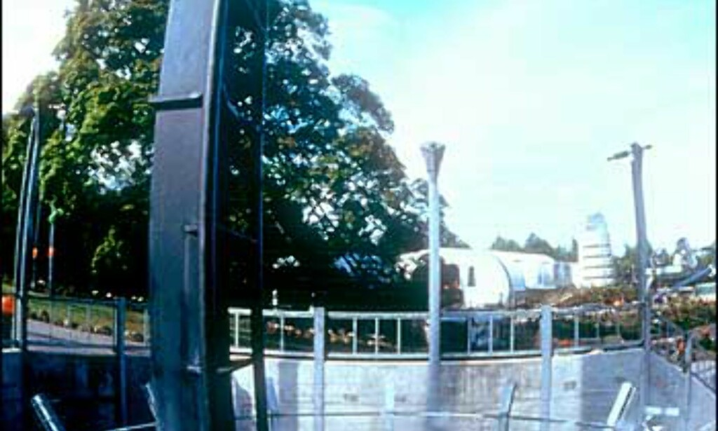 Oblivions 90 graders fall sett fra siden. Foto: Altontowers.com