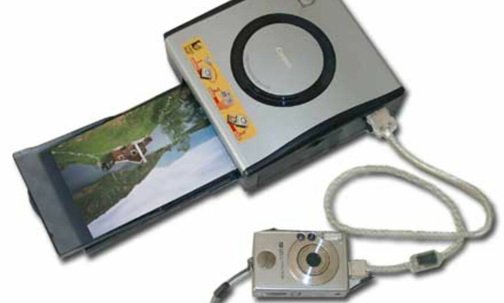 Kameraet kobles direkte til skriveren.
